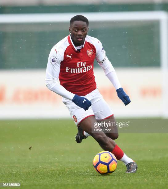 Josh Dasilva of Arsenal during the match between Arsenal U23 and Chelsea U23 at London Colney on March 17 2018 in St Albans England