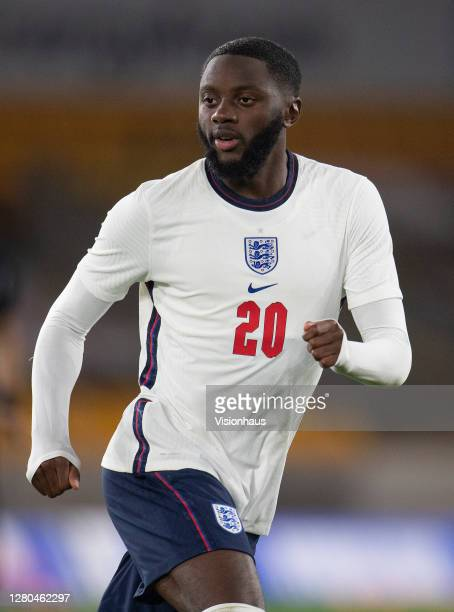Josh Dasilva of England during the UEFA Euro Under 21 Qualifier match between England U21 and Turkey U21 at Molineux on October 13 2020 in...