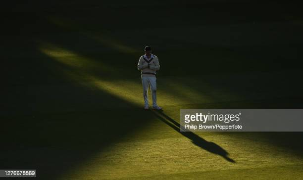 Josh Davey of Somerset looks on late on the third day of the Bob Willis Trophy Final between Somerset and Essex at Lord's Cricket Ground on September...