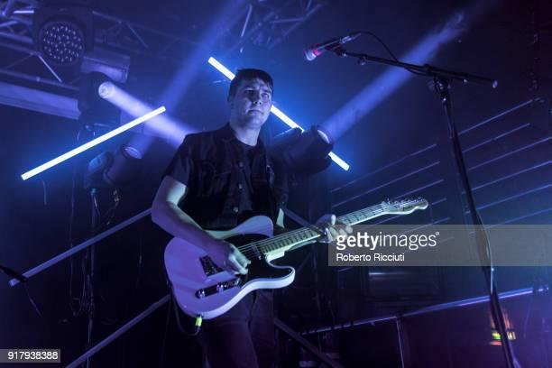 Josh Davidson of The Sherlocks performs on stage at The Liquid Room on February 13 2018 in Edinburgh Scotland