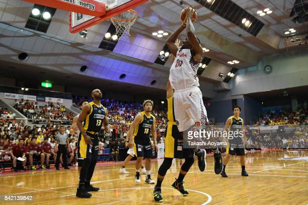Josh Davis of the Kawasaki Brave Thunders goes up for a shot during the BLeague Kanto Early Cup 3rd place match between Kawasaki Brave Thunders and...