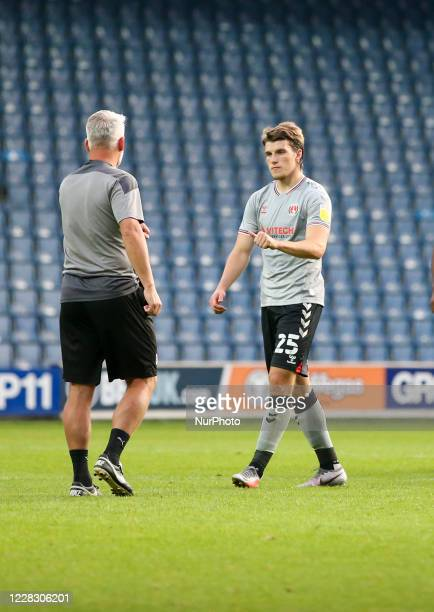 LONDON ENGLAND SEPT 1ST 2020 Josh Davison of Charlton Athletic after the game during the EFL Trophy match between AFC Wimbledon and Charlton Athletic...