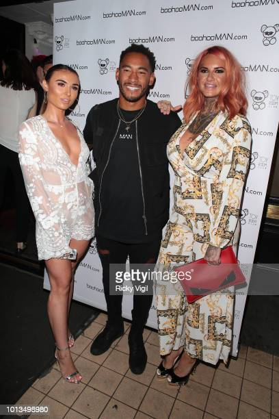 Josh Denze and Jemma Lucy attend the Love Island Welcome Home Party at Toy Room Club on August 8 2018 in London England