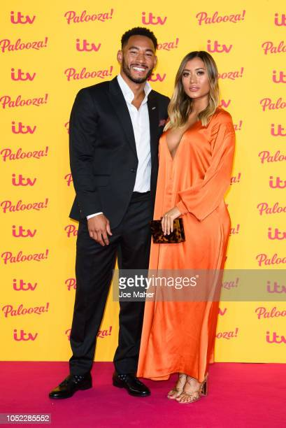 Josh Denzel and Kaz Crossley attend the ITV Palooza held at The Royal Festival Hall on October 16 2018 in London England