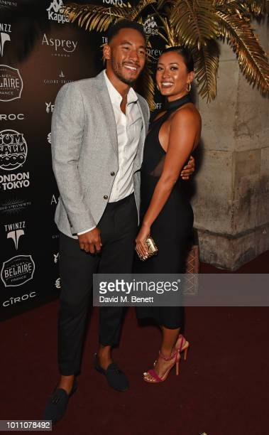 Josh Denzel and Kaz Crossley attend the official launch party for the Gumball 3000 Rally at Proud Embankment on August 4 2018 in London England The...