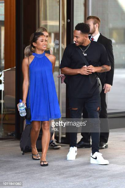 Josh Denzel and Kaz Crossley sighting on August 6 2018 in London England