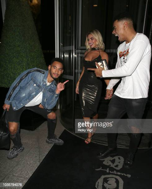 Josh Denzel Megan Barton Hanson and Wes Nelson seen attending boohooMAN VIP dinner at The Shard on September 18 2018 in London England