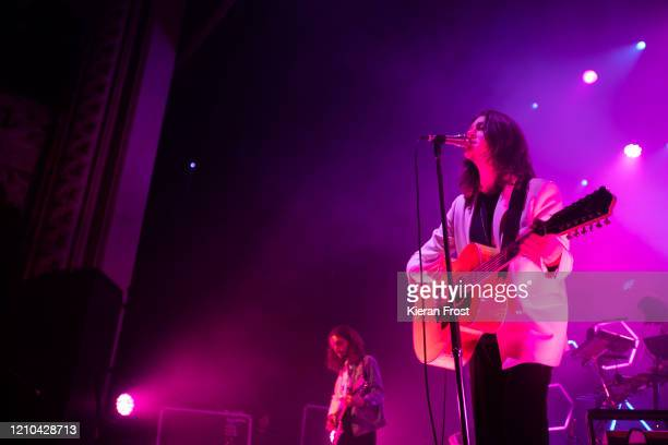 Josh Dewhurst and Tom Ogden of Blossoms perform at Olympia Theatre on March 04, 2020 in Dublin, Ireland.