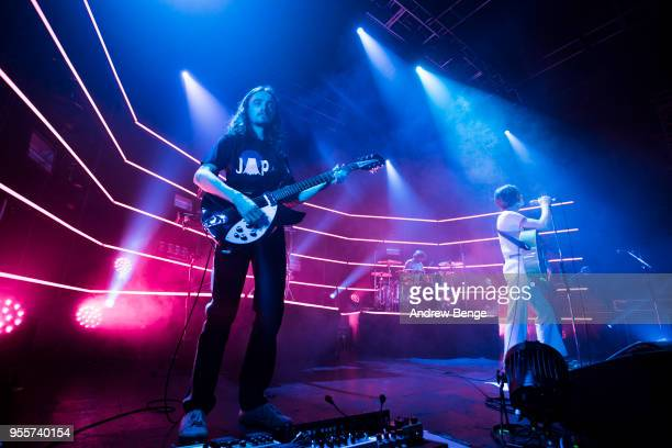 Josh Dewhurst and Tom Ogden of Blossoms perform live on stage at O2 Academy Leeds on May 7 2018 in Leeds England