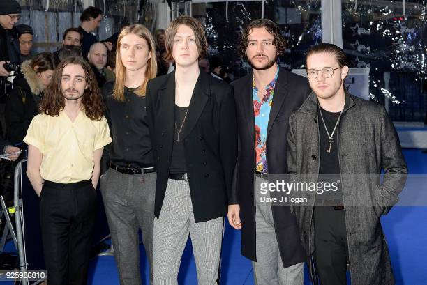 Josh Dewhurst Myles Kellock Tom Ogden and Joe Donovan of Blossoms attend The Global Awards a brand new awards show hosted by Global the Media...