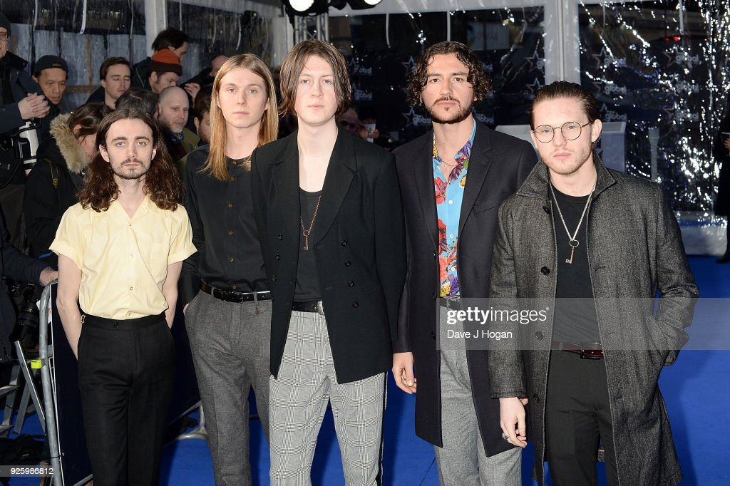 Josh Dewhurst, Myles Kellock, Tom Ogden and Joe Donovan of Blossoms attend The Global Awards, a brand new awards show hosted by Global, the Media & Entertainment Group at Eventim Apollo, Hammersmith on March 1, 2018 in London, England.
