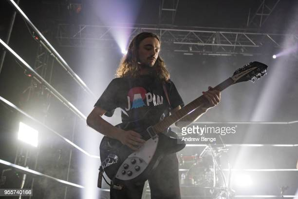 Josh Dewhurst of Blossoms performs live on stage at O2 Academy Leeds on May 7 2018 in Leeds England
