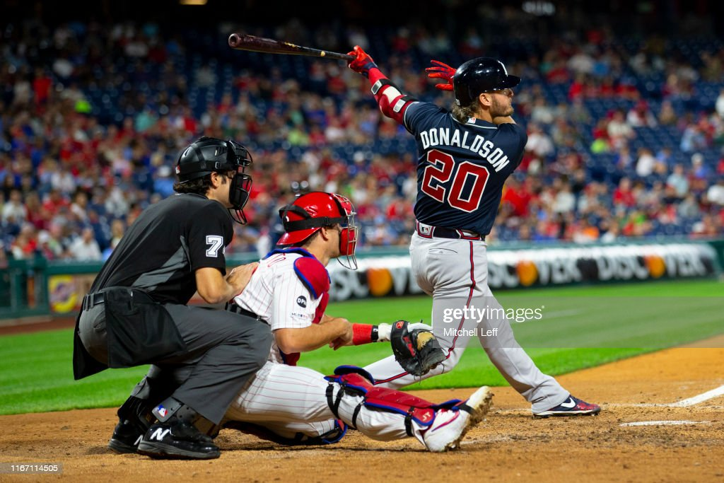Atlanta Braves v Philadelphia Phillies : Foto jornalística