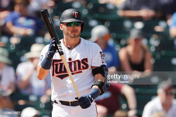 Josh Donaldson of the Minnesota Twins at bat against the Philadelphia Phillies during the first inning of a Grapefruit League spring training game at...