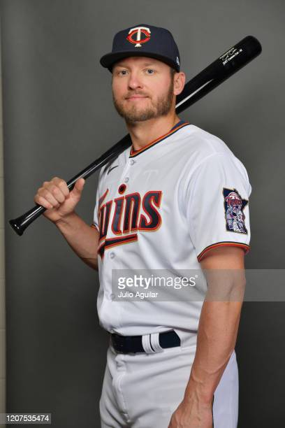 Josh Donaldson of the Minnesota Twins poses during Photo Day at Hammond Stadium at Centurylink Sports Complex on February 20, 2020 in Fort Myers,...