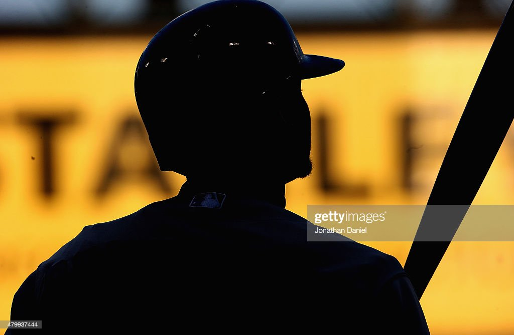 Josh Donaldson #20 of the Toronto Blue Jays prepares to bat against the Chicago White Sox at U.S. Cellular Field on July 7, 2015 in Chicago, Illinois.