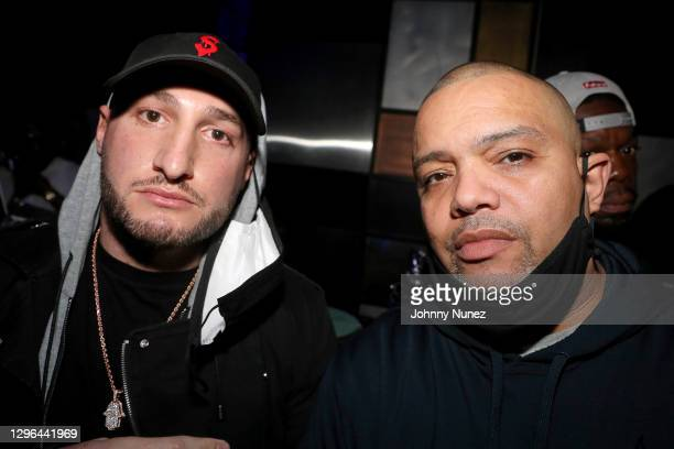 """Josh """"DOT"""" Stone attends Barry Mullineaux's birthday party hosted by 50 Cent on January 14, 2021 in Miami, Florida."""