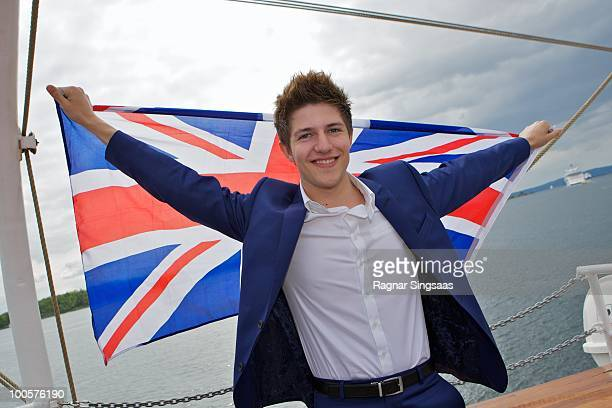 Josh Dubovie of the United Kingdom attends The Big 4 Boat Trip onboard Christian Radich on May 25 2010 in Oslo Norway 39 countries will take part in...