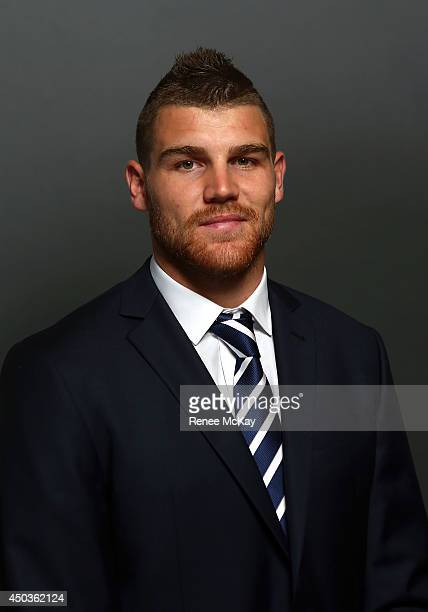 Josh Dugan poses for a photograph during the New South Wales Blues State of Origin team announcement at ANZ Stadium on June 10 2014 in Sydney...