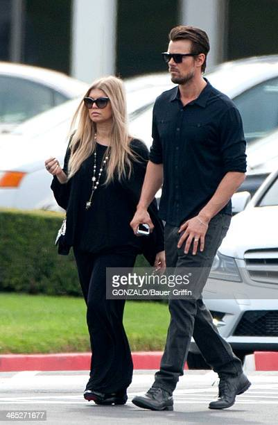 Josh Duhamel and Fergie are seen on January 26 2014 in Los Angeles California