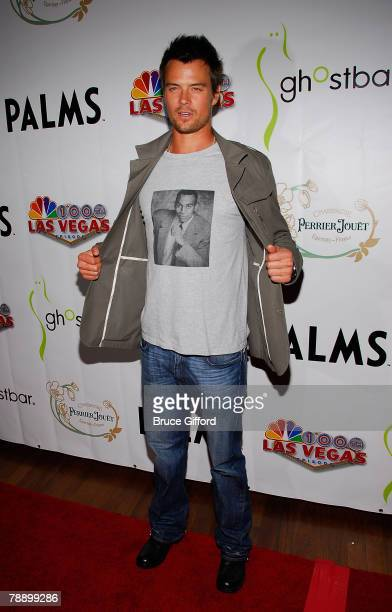 Josh Duhamel arrives to celebrate NBC's Las Vegas 100th Episode held at Ghost Bar inside the Palms Casino Resort on January 10, 2008 in Las Vegas,...