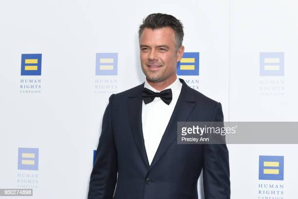 Josh Duhamel attends Human Rights Campaign's 2018 Los Angeles Gala Dinner Arrivals at JW Marriott Los Angeles at LA LIVE on March 10 2018 in Los...