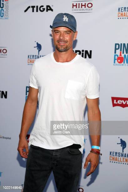 Josh Duhamel attends the 6th annual PingPong4Purpose at Dodger Stadium on August 23 2018 in Los Angeles California