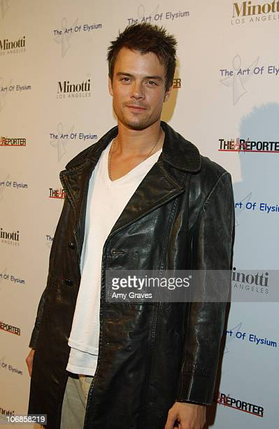 Josh Duhamel during The Art of Elysium Presents Russel Young fame shame and the realm of possibility Hosted by Balthazar Getty and Joaquin Phoenix...