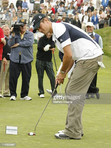 Josh Duhamel during The Ninth Annual Michael Douglas Friends Celebrity Golf Tournament Celebrity Putting Challenge at Trump National Golf Club in...
