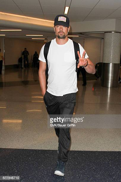 Josh Duhamel is seen at LAX on April 18 2016 in Los Angeles California