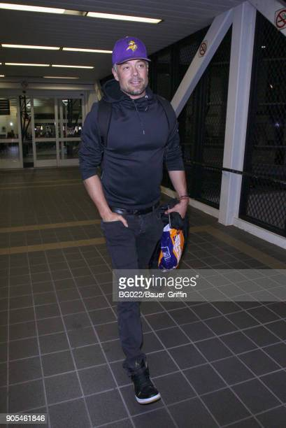 Josh Duhamel is seen at Los Angeles International Airport on January 15 2018 in Los Angeles California