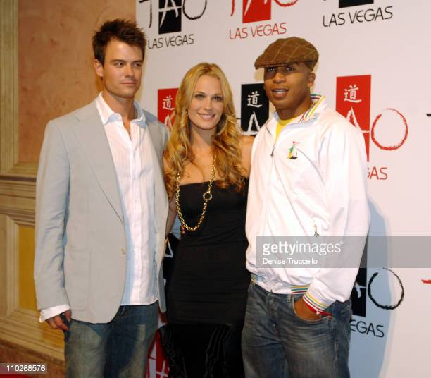 Josh Duhamel Molly Sims and James Lesure during TAO Grand Opening Weekend Celebration at TAO Restaurant and Nightclub at The Venetian Hotel and...