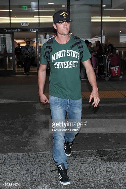 Josh Duhamel seen at LAX on April 23 2015 in Los Angeles California