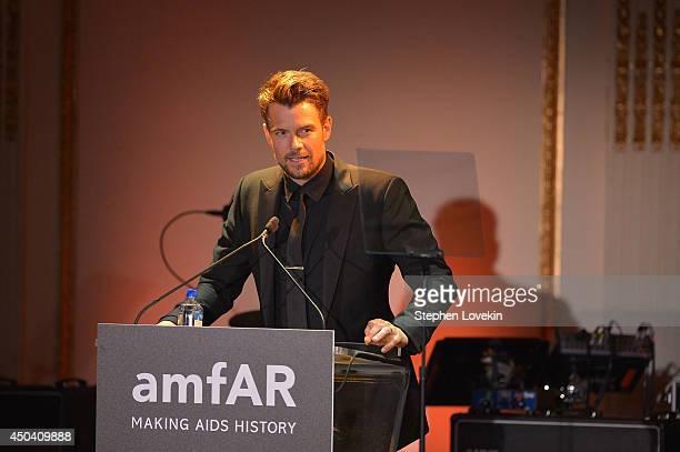 Josh Duhamel speaks onstage at the amfAR Inspiration Gala New York 2014 at The Plaza Hotel on June 10 2014 in New York City