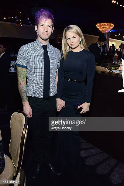 Josh Dun and Debby Ryan attend the 5th Annual Thirst Gala hosted by Jennifer Garner in partnership with Skyo and Relativity's 'Earth To Echo' at The...