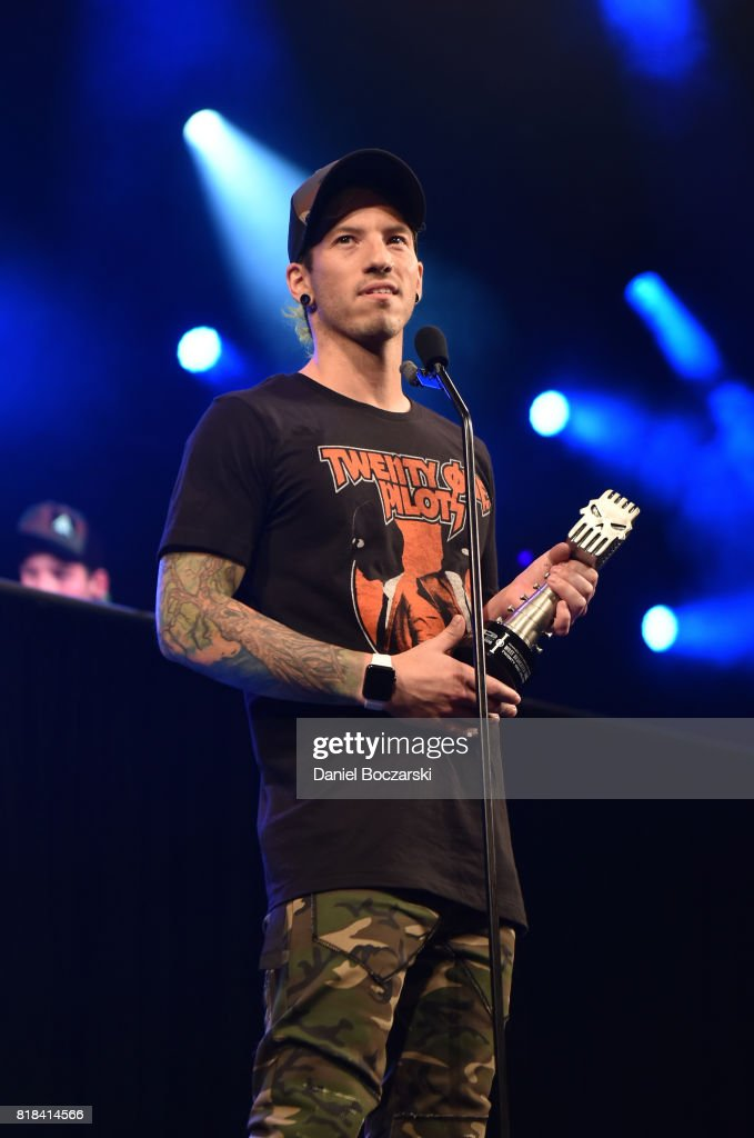 Josh Dun of Twenty One Pilots attends the 2017 Alternative Press Music Awards at KeyBank State Theatre on July 17, 2017 in Cleveland, Ohio.