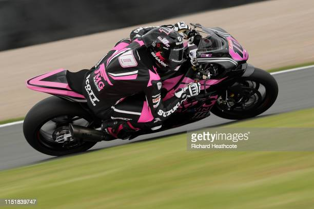 Josh Elliott in action during the Bennetts British Superbike Championship at Donington Park on May 26, 2019 in Castle Donington, England.