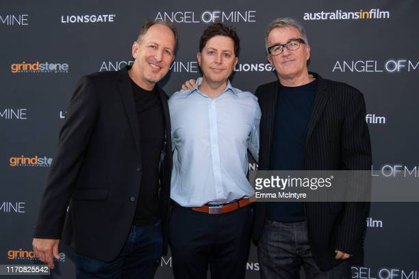 """Josh Etting, Brian Etting and Luke Davies attend the special screening of Lionsgate's """"Angel of Mine"""" at Raleigh Studios on August 28, 2019 in Los..."""