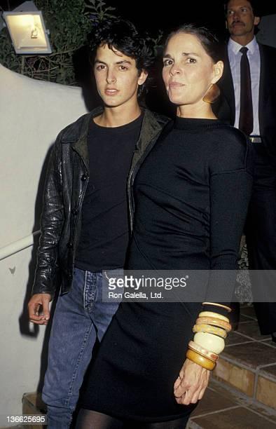 Josh Evans and Ali MacGraw attend Malibu Adobe Opening on November 7, 1987 in Malibu, California.