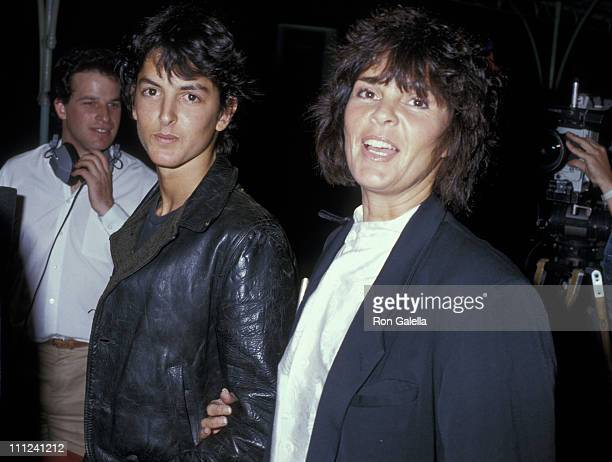 Josh Evans and Ali MacGraw during 1987 AFI Film Festival Amazing Grace and Chuck Screening at Mann's Theater in Hollywood California United States