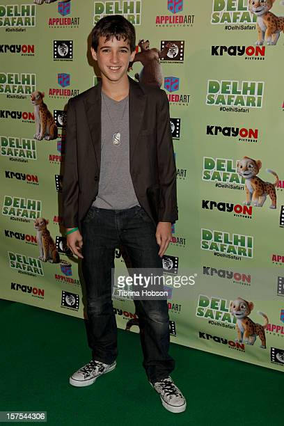 Josh Feldman attends the Delhi Safari Los Angeles premiere at Pacific Theatre at The Grove on December 3 2012 in Los Angeles California