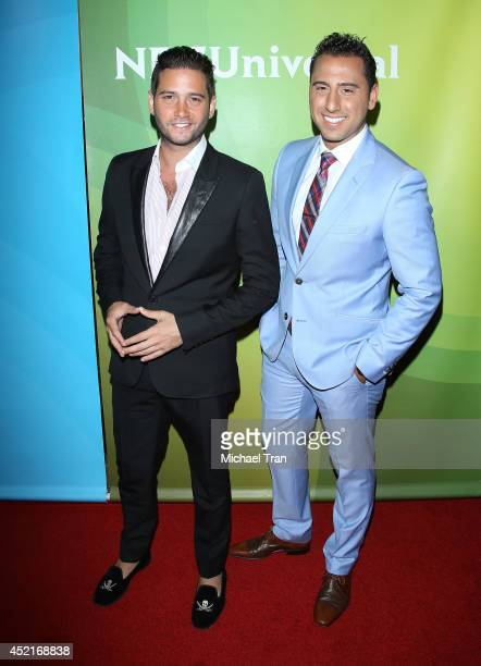 Josh Flagg and Josh Altman arrive at the 2014 Television Critics Association Summer Press Tour NBCUniversal Day 2 held at The Beverly Hilton Hotel on...