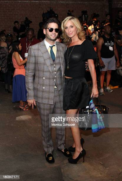Josh Flagg and Sonja Morgan attend the Daisy Fuentes fashion show during MercedesBenz Fashion Week Spring 2014 at Eyebeam on September 11 2013 in New...