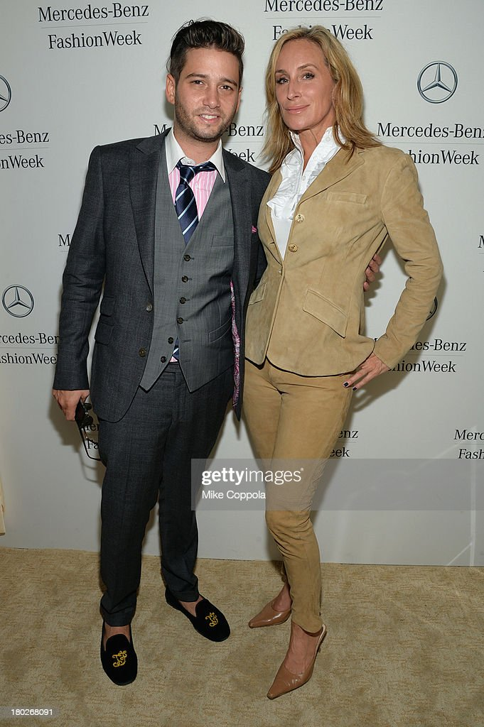 Josh Flagg and Sonja Morgan attends the Mercedes-Benz Star Lounge during Mercedes-Benz Fashion Week Spring 2014 on September 10, 2013 in New York City.