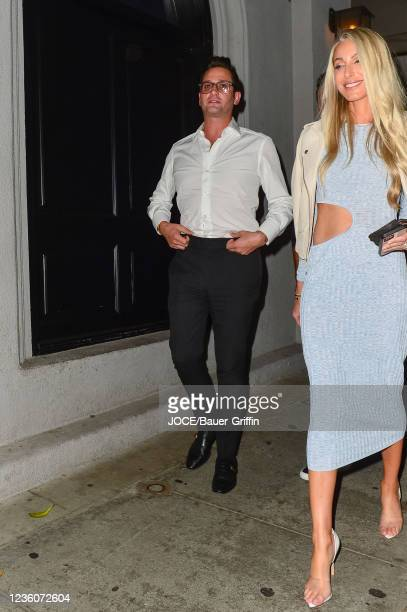 Josh Flagg and Tracy Tutor are seen on October 22, 2021 in Los Angeles, California.