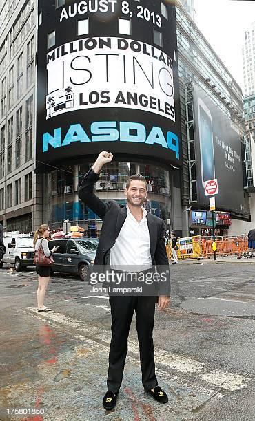 Josh Flagg rings the closing bell at the NASDAQ MarketSite on August 8 2013 in New York City