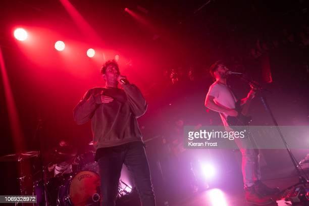 Josh Franceschi and Dan Flint of You Me At Six perform at The Academy on November 18 2018 in Dublin Ireland