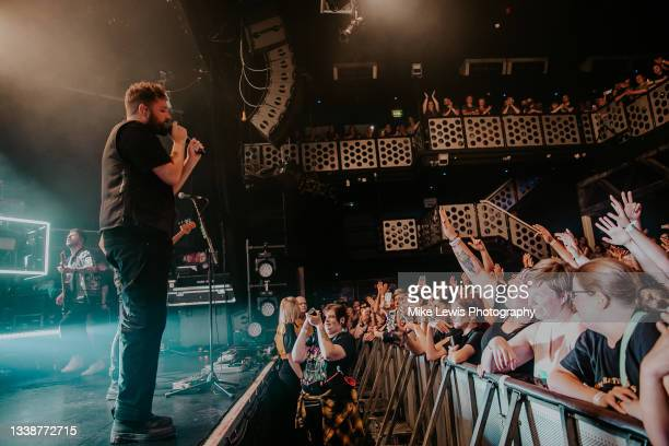 Josh Franceschi of You Me At Six performs at O2 Academy Bristol on September 06, 2021 in London, England.