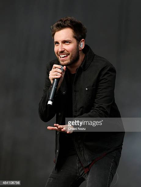 Josh Franceschi of You Me At Six performs on Day 3 of the Reading Festival at Richfield Avenue on August 24, 2014 in Reading, England.