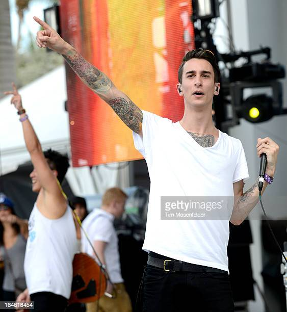Josh Friend of Modestep performs at the Ultra Music Festival on March 24 2013 in Miami Florida